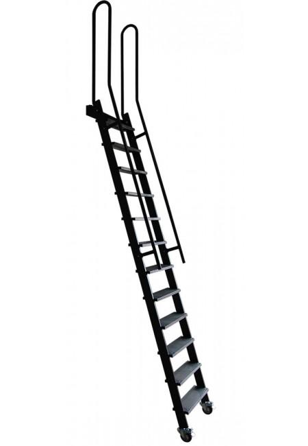 Scala per Soppalchi Chiudibile con gradini in ferro e passamano